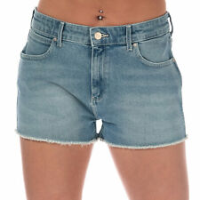 Womens Wrangler Boyfriend Shorts In Rolling Blue