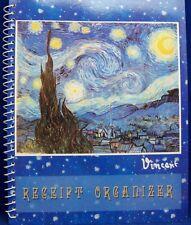 "Vincent Van Gogh ""Starry Night"" Receipt Organizer New FREE SHIPPING"