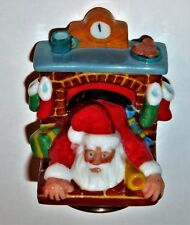 HALCYON DAYS ENAMEL BOX - SANTA CLAUS IN THE FIREPLACE BONBONNIERE - CHIMNEY
