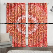 Indian star mandala cotton drape balcony home decor window treatment curtain set
