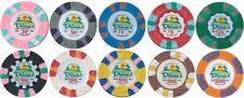 (100) Dunes Casino Commemorative Poker Chips Las Vegas 10 Denominations Custom *
