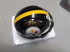 Leveon Bell #26 Pittsburgh Steelers signed Riddell mini helmet +coa