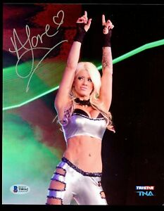 Angelina Love signed autograph auto 8x10 Photo TNA Pro Wrestler BAS Cert