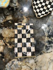 MacKenzie Childs Courtly Check Paper Napkins - Guest Towels Napkins.
