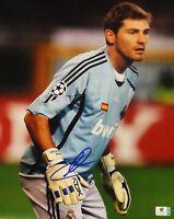 Iker Casillas Hand Signed Autographed Jumbo 11x14  Photo Real Madrid GA 728411