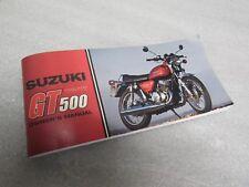 Suzuki GT500 owners manual 1976 1977