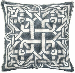EMBROIDERY COUNTED CROSS STITCH KIT CHARIVNA MIT RT-175 GREY ORNAMENT