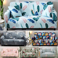 1234 Seater Floral Sofa Covers Slipcover Elastic Stretch Settee Protector Couch