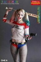 New DC Crazy Toys Suicide Squad Harley Quinn 1/6TH Real Clothes 12'' PVC Figure
