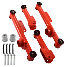 1979-2004 Mustang RED Upper & Lower Rear Tubular Control Arms w/ Bushings Kit
