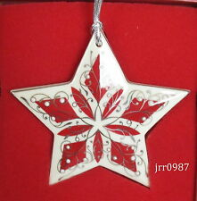 Lenox China Jewels Ruby Red Nativity Star Ornament New in box