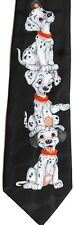 "Addiction Men''s Novelty Poly Tie 59"" X 3.75"" Three (very cute) Dalmatian Puppys"