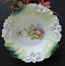 Art Nouveau RS Prussia Bowl Carnation Mold