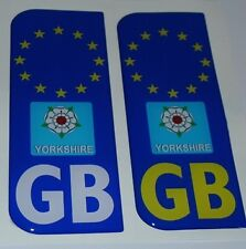 Yorkshire Number Plate Dome Sticker 3D Car Badge Decal