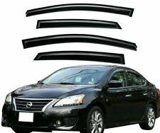 For 2013-2017 Nissan Sentra Smoke Window Vent Visors Sun Rain Guards Deflectors (Fits: Nissan)