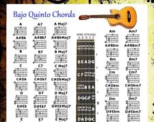 BAJO QUINTO CHORDS POSTER 13x19 & 5 POSITION LOGO
