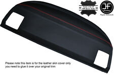 RED STITCH REAR PARCEL SHELF LEATHER COVER FITS BMW E36 3 SERIES COUPE 92-98