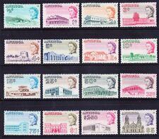 ANTIGUA 1966 SG180/95 QEII definitive set of 16 P111/2x11 unmounted mint cat £55