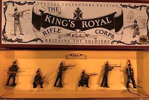 Britains: Boxes Set 8822 - Kings Royal Rifle Corps, c1900. 54mm Metal Models