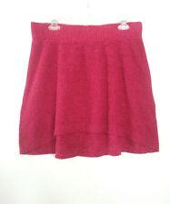 MOSSIMO Flare Sweater Mini Skirt Hi-Lo 100% Cotton Short Stretch Women's Size L