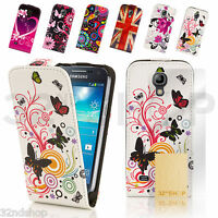 New LEATHER FLIP CASE COVER FOR SAMSUNG GALAXY S4 Mini i9190 SCREEN PROTECTOR