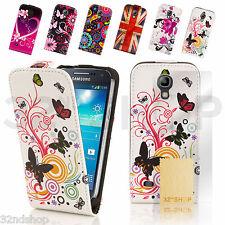 Neu Lederhülle Zum Aufklappen für Samsung Galaxy S4 Mini i9190 Displayschutz