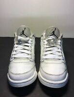 Air Jordan 5 Retro Low GS Size 6Y White Wolf Grey