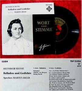 EP Martin Held: Balladen und gedichte von Heinrich Heine