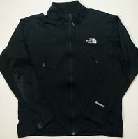 North Face WindStopper Mens Large Black Softshell Jacket Full Zip Up Coat