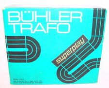 Bühler Trafo SLOT CAR RACE TRACK POWER TRANSFORMER 220 Volt - 12 Volt Output NMB