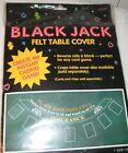 Black+Jack+Felt+Table+Cover+Amscan+6.4+ft+x+2.5+ft