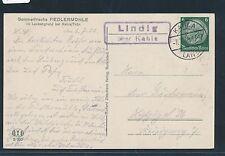 01076) Landpost Ra2 Lindig über Kahla 1936, gute AK Fiedler Mühle Leubengrund