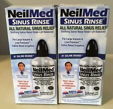 TWO~NeilMed Sinus Rinse Bottle & Packet~8 Oz Nasal Saline~Exp 7/2023~$12.99!!