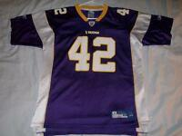 Darren Sharper 42 Minnesota Vikings Reebok OnField NFL Jersey Boys XL 18-20  used 587379527