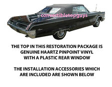 CHRYSLER 300 & NEWPORT CONVERTIBLE TOP DO IT YOURSELF PACKAGE 1967-1968