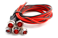 More details for dcc concepts led-rdcp red chrome mount common & pre-wired leds (pk5)