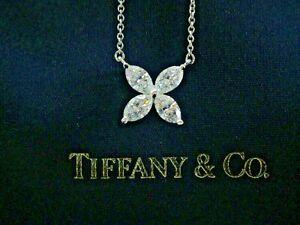 Tiffany & Co Victoria Diamond X Pendant LARGE 1.00Ct 2007 Version