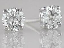 4.00ct Certificated D IF Exc Brilliant Cut Diamond Solitaire Studs in Platinum