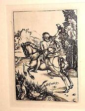 Albrecht Dürer Kupferstich Galoppierender Reiter (Der kleine Kurier) Faksimile