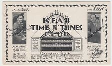 NEBRASKA LINCOLN RADIO STATION KFAB TIME N' TUNES CLUB WITH LAMBERT & MOSS 1934