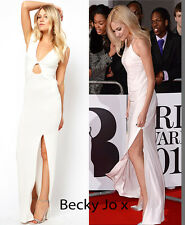 TOPSHOP LOVE Maxi Dress ~ 12 UK/ EUR Medium/ 8 US ~ Cream ~ Celebrity Style ~