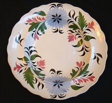 Adams Stick Spatter Floral Deep Plate or Bowl c.1820 ~ Staffordshire