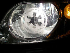 Star Wars IMPERIAL (pair) S HEAD LIGHT Galactic sticker Logo ETCHED DECALS