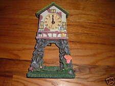 "Grandpa's Favorite mini grandfather clock Resin Home Small House ""As Is"" RARE"