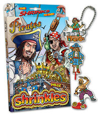33 PIRATE EMBELLISHMENTS SHRINKLES SHRINKIE SHRINK ART BUMPER BOX SET & PENCILS