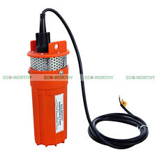 DC 12V Submersible Deep Well Water Pump Solar/Battery Power Fountain Watering