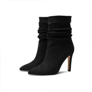 Winter Women's Fall Mid-Calf Boots Pointed Toe Party Shoes Slim High Heels Chic