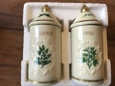 The Lenox Spice Garden Chili & Allspice Fine Porcelain Jars, New In The Box