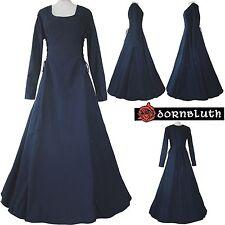 Mittelalter Gothic Karneval Gewand Kleid Kostüm Robe Eleonore Marine XS S M L XL