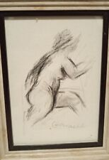 Claude Garache French Artist Original? Drawing On Paper Signed Massive artist